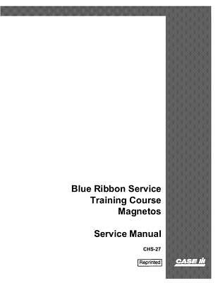 Case Ih Mccormick-deering Blue Ribbon Service Traning Course -magnetos Service M