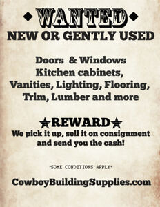 Wanted ! Used doors, windows, hardware in good condition!