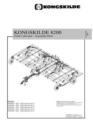 New Holland 8200 Field Cultivator Parts Catalog