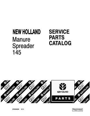 New Holland 145 Manure Spreader Parts Catalog