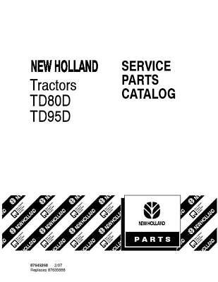 New Holland Td80dtd95d Tractors Parts Catalog