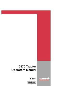 Case Ih 2670 Tractor Operators Manual