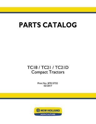 New Holland Tc18 Tc21d Compact Tractor Parts Catalog