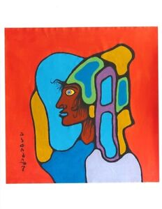 Four Individual Original Norval Morrisseau Art Pieces (2)