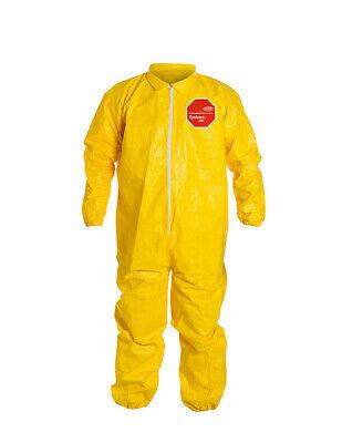 Dupont Tyvek Tychem Qc125s Xl - Chemical Hazmat Coverall Suit W Elastic Wa