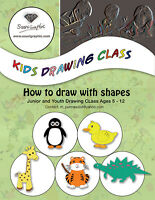 Drawing (with shapes) tutor for kids ages 5-10