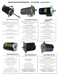 Snow plow motors - New