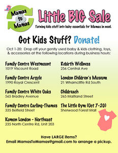 DONATE your Kids Stuff to support the London Food Bank! London Ontario image 1