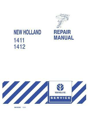 New Holland 1411 1412 Disc Mower-conditioner Service Manual