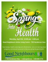 Spring Into Health fair at Good Neighbours Active Living Ctr.
