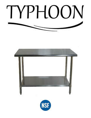 30 X 30 Stainless Steel Commercial Counter Table Adjustable Undershelf