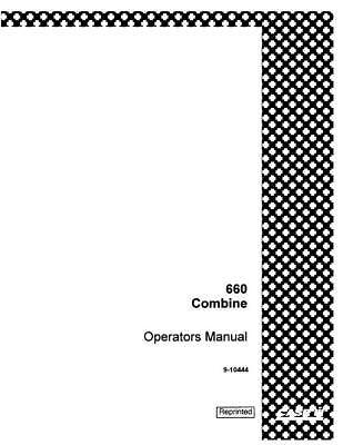 Case Ih 660 Combine Operators Manual