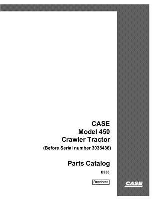 Case Ih 450 Crawler Tractor-3038436 And Before Parts Catalog