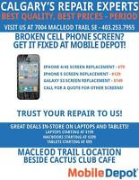 CELL PHONE SCREEN REPAIRS STARTING AT $79 AT MOBILE DEPOT!