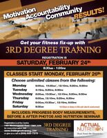 3rd Degree Training - 8-week fitness camp!  STARTS FEB 26TH
