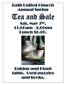 Bath United Church Spring tea and sale