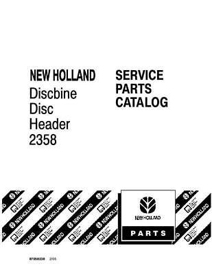 New Holland 2358 Discbine Disc Header Parts Catalog
