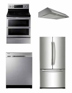 Brand New 4 piece Stainless Steel Appliance Package