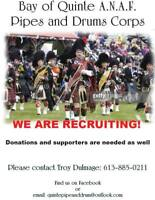 pipers and drummers