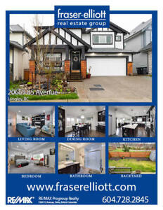 Family home with south exposure in Langley!