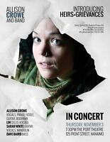 Allison Crowe and Band: Introducing / Heirs+Grievances Nanaimo