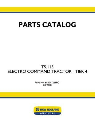 New Holland T5.115 Electro Command Tractor - Tier 4 Parts Catalog