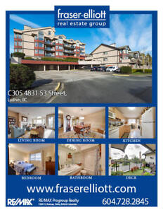 Top floor penthouse unit at Ladner Pointe!