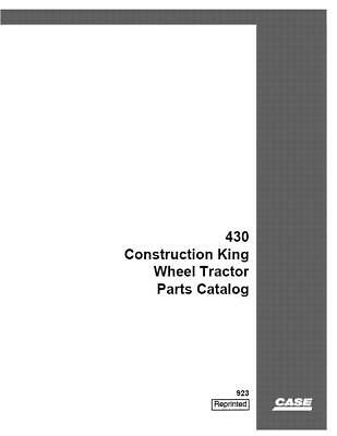 Case Ih 430 Construction King Wheel Tractor Parts Catalog