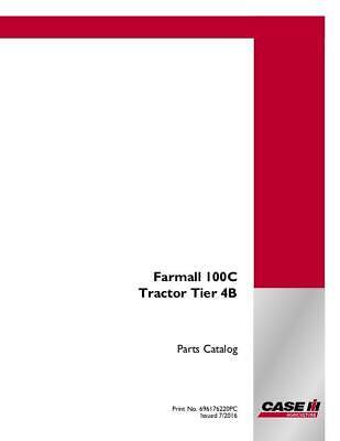 Case Ih Farmall 100c Tractor - Tier 4b Parts Catalog