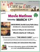 Voice For Life  Free Movie Event THE GRACE CARD March 17, 2018
