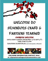SILVERTON, B.C. CRAFT AND FARMERS MARKET-75 min. from Nelson