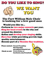 MALE SINGERS WANTED!