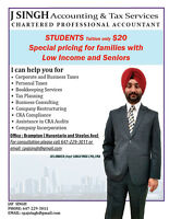 Tax filing by Chartered Accountant at Reasonable Prices $$