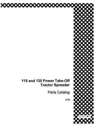 Case Ih 115 135 Power Take Off Spreader Complete Parts Catalog