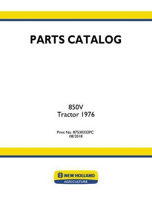 New Holland 850v Versatile Tractor-1976 Parts Catalog