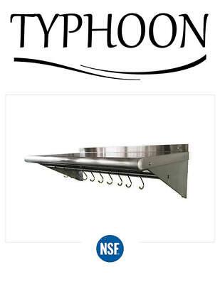 Stainless Steel Commercial Kitchen Wall Shelf Restaurant Shelving Multi Lengths