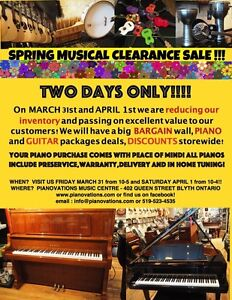 Music Store Clearance Sale Starts Friday! 2 Days ONLY!