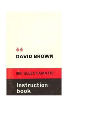 Case Ih 990 Selectamatic David Brown Operators Manual