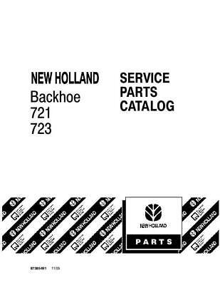 New Holland 721723 Backhoe Parts Catalog