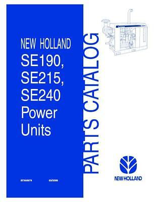 New Holland Se190se215se240 Irrigation Power Unit Parts Catalog