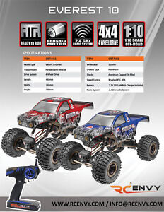 Redcat Racing Everest-10 Scale 1:10 2.4GHz Electric RTR RC Rock