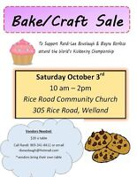 Personal health vendors wanted for craft/bake sale