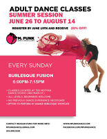 BURLESQUE FUSION ADULT DANCE CLASSES