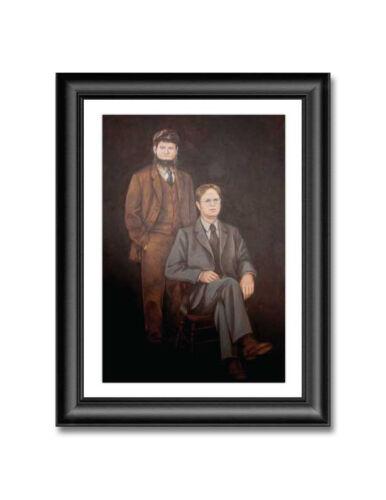 """Dwight & Mose Schrute Portrait Poster 19"""" x 13"""" The Office Dunder Mifflin"""