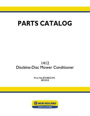 New Holland 1412 Discbine Disc Mower Cond 505 Parts Catalog