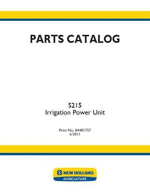 New Holland S215 Irrigation Power Unit Parts Catalog