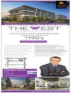 The West Condos at Stationwest  From $190,000  in Burlington