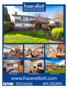 Renovated two-level home located in West Ladner!