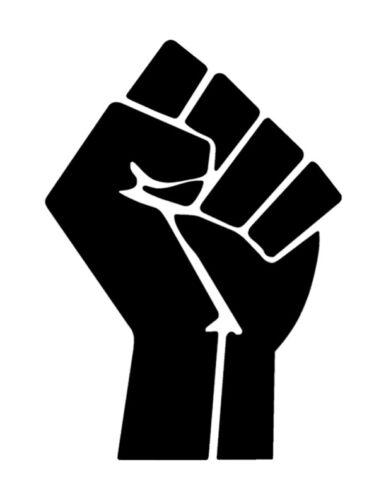 "Fist Black Power Lives Matter 8.5"" x 11"" Custom Stencil FAST FREE SHIPPING"