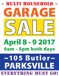 MOVING/MULTI-FAMILY GARAGE SALE in PARKSVILLE